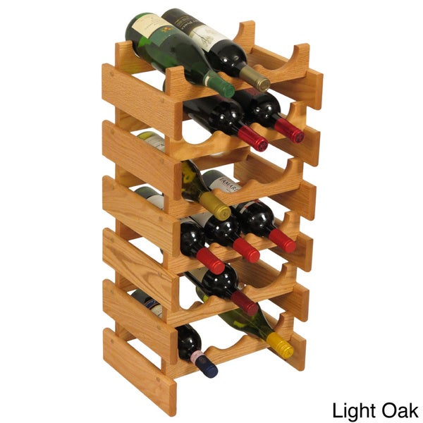 18-bottle Stackable Wood Dakota Wine Rack