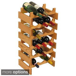 18-bottle Stackable Wood Dakota Wine Rack