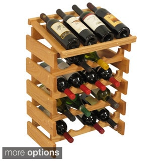 20-bottle Stackable Wood Dakota Wine Rack with Display Top