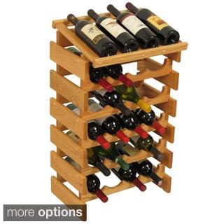 24-bottle Stackable Wood Dakota Wine Rack with Display Top
