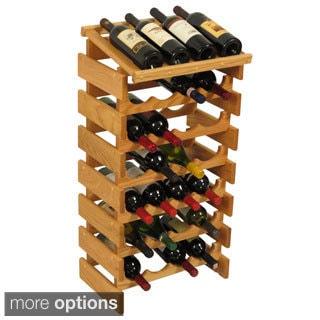 28-bottle Stackable Wood Dakota Wine Rack with Display Top