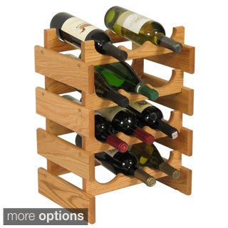 12-bottle Stackable Wood Dakota Wine Rack