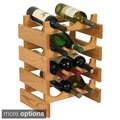 12-bottle Stackable Wood Dakota Wine Rack