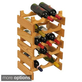 15-bottle Stackable Wood Dakota Wine Rack