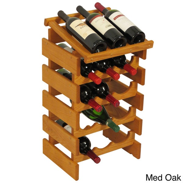 15-bottle Stackable Wood Dakota Wine Rack with Display Top