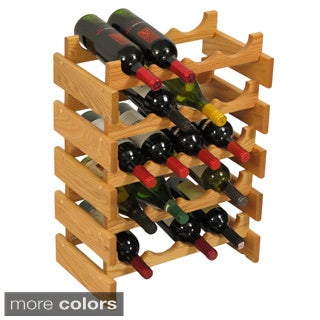 20-bottle Stackable Wood Dakota Wine Rack
