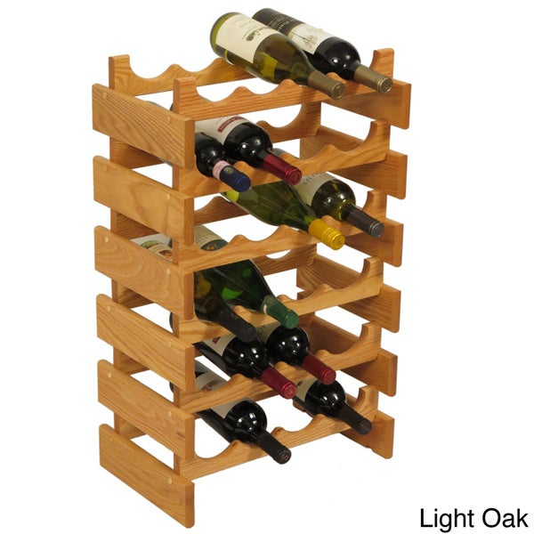 24-bottle Stackable Wood Dakota Wine Rack