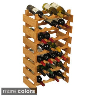28-bottle Stackable Wood Dakota Wine Rack