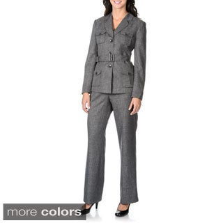 Danillo Women's Self Tie Belted Pant Suit
