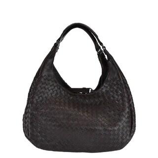 Bottega Veneta Campana Napa Lambskin Leather Hobo Handbag