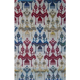 Hand-knotted Medallion Multicolored Oriental Rug (5' x 8')