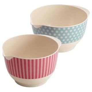 Cake Boss Countertop Accessories 2-piece Melamine Mixing Bowl Set