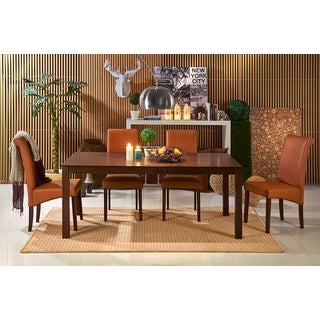 ABBYSON LIVING Jenna Cappuccino Wood Dining Table