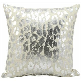 Kathy Ireland by Nourison Silver 18-inch Throw Pillow