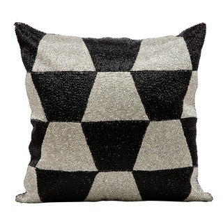Kathy Ireland Black/ Silver 18-inch Throw Pillow by Nourison