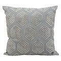 Kathy Ireland Silver-Grey 18-inch Throw Pillow by Nourison