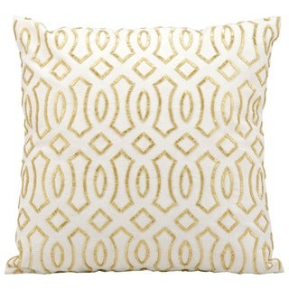 Kathy Ireland Gold White 18-inch Throw Pillow by Nourison