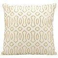 kathy ireland Golden Coast White/Gold Throw Pillow (18-inch x 18-inch) by Nourison