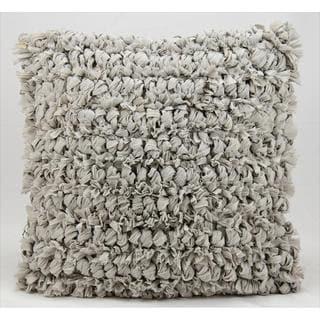Nourison Kathy Ireland Silver Loop Shag 20-inch Throw Pillow