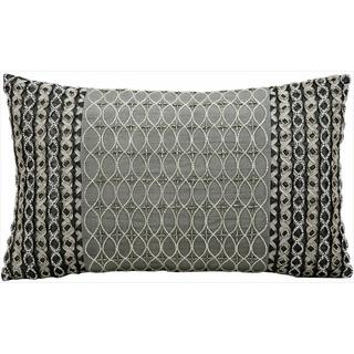 Nourison Kathy Ireland Embellished Silver Grey Throw Pillow