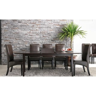 Abbyson Living Kingston Cappucino Wood Expandable 7-piece Dining Set