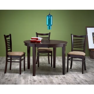 ABBYSON LIVING Bahama Cappucino Wood Round 5-piece Dining Set