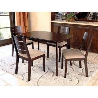 Abbyson Living Bermuda Cappucino Wood 5-piece Dining Set