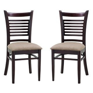 Abbyson Living Bahama Light Brown Fabric Dining Chair (Set of 2)