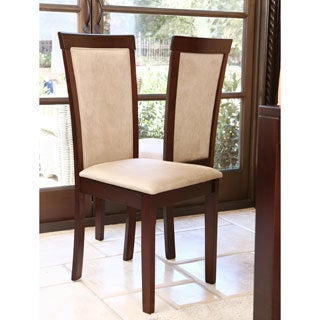 Abbyson Living Montego Light Brown Fabric Dining Chair (Set of 2)