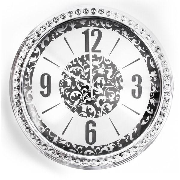 Modern 18-inch Jeweled Stainless Steel Advance Clock