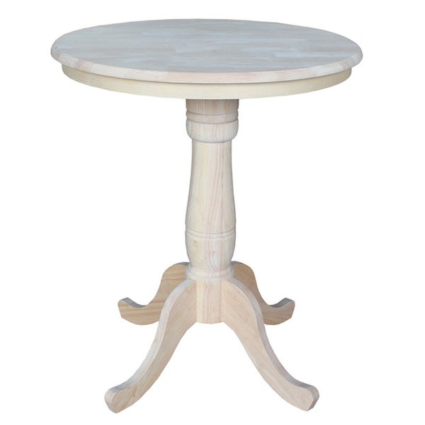Unfinished 36-inch High Round Counter-height Pedestal Table