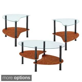 InnovEx Crescent Black Coffee Table Set