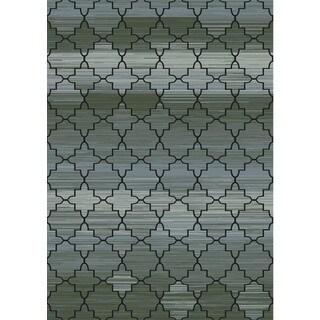 Regal Contemporary Grey Rug (7'10 x 10'10)