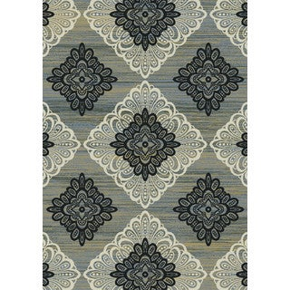 Regal Contemporary Taupe-Grey Rug (5'3 x 7'7)