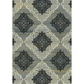 Regal Contemporary Taupe-Grey Rug (7'10 x 10'10)
