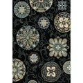 Regal Contemporary Black Rug (5'3 x 7'7)