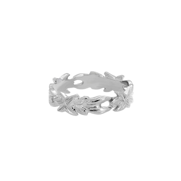 Sterling Essentials Sterling Silver Floral Midi Ring