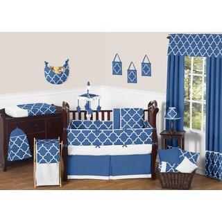 Sweet Jojo Designs Blue Trellis 9-piece Crib Bedding Set