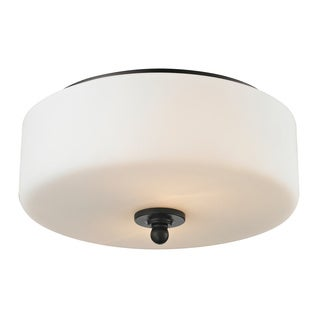 Z-Lite Cardinal 2-light Olde Bronze Flush Mount