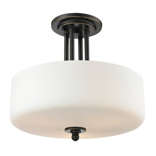 Z-Lite Cardinal 3-light Olde Bronze Semi-flush Mount
