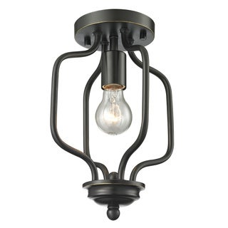 Z-Lite Cardinal 1-light Olde Bronze Flush Mount