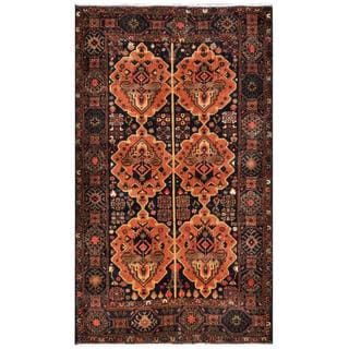 Herat Oriental Semi-antique Afghan Hand-knotted Tribal Balouchi Rust/ Brown Wool Rug (3'9 x 6'4)
