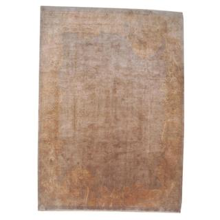 Herat Oriental Indo Hand-knotted Tibetan Tan/ Gold Wool Rug (8'7 x 11'7)