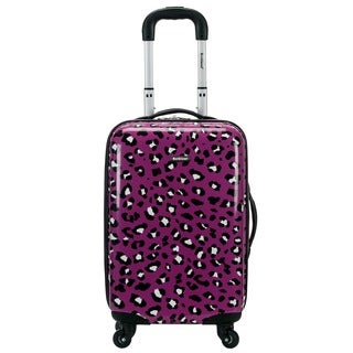 Rockland Purple Leopard 20-inch Lightweight Hardside Spinner Carry-on Luggage