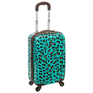 Rockland Blue Leopard 20-inch Lightweight Hardside Spinner Carry-on Luggage