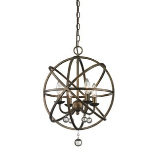 Z-Lite Acadia 4-light Golden Bronze/ Clear Crystal Pendant