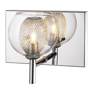Z-Lite Agai Single-light Chrome Wall Sconce with Clear Glass Shade