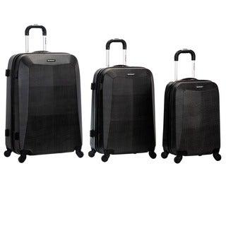 Rockland Vision Crocodile Print 3-piece Hardside Spinner Luggage Set