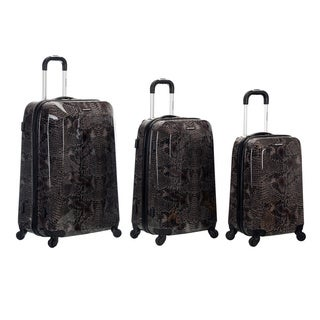 Rockland Vision Snake Print 3-piece Hardside Spinner Luggage Set