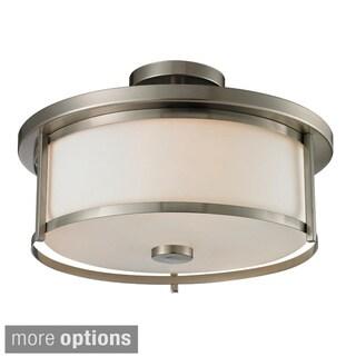 Z-Lite Savannah 3-light Matte Opal Glass Semi-flush Mount